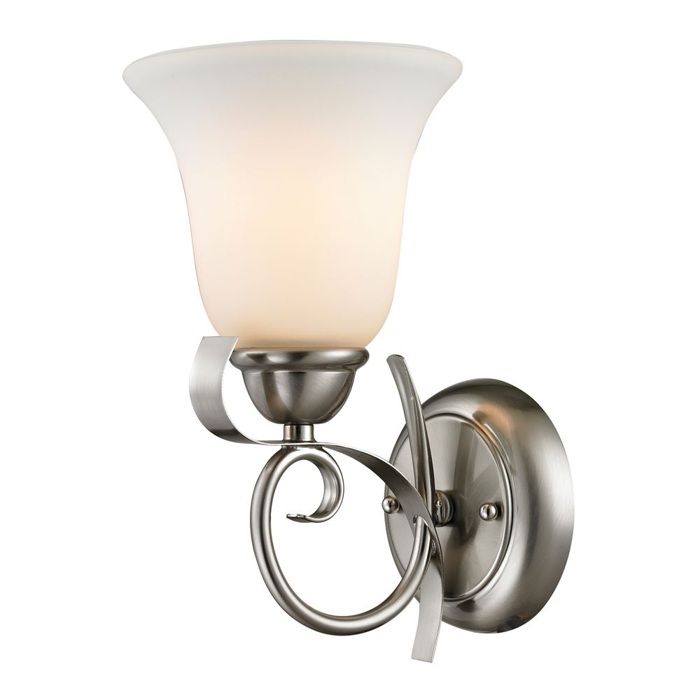 1 Light Wall Sconce In Brushed Nickel TN-50000 Canada Discount