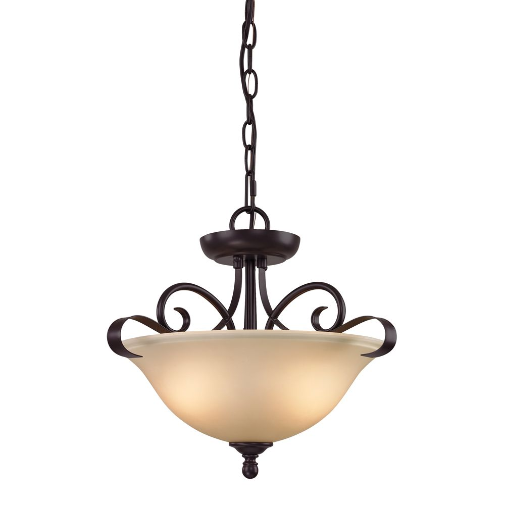 2 Light Semi Flush In Oil Rubbed Bronze With Led Option TN-95449 Canada Discount