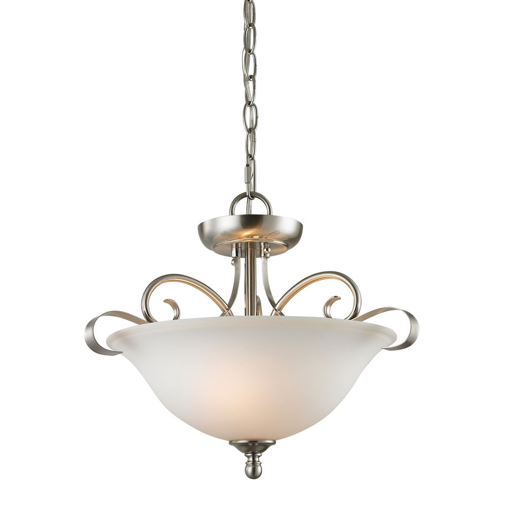 2 Light Semi Flush In Brushed Nickel TN-50009 Canada Discount
