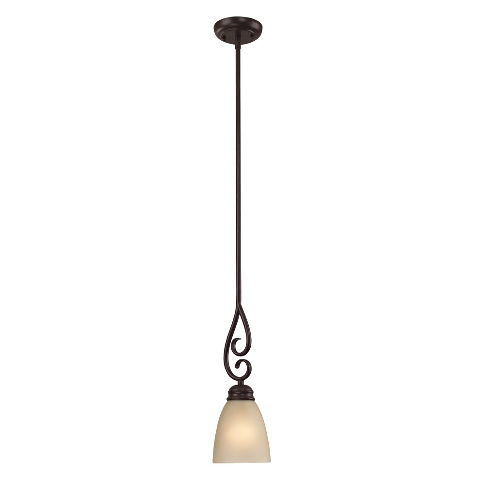 1 Light Mini Pendant In Oil Rubbed Bronze With Led Option