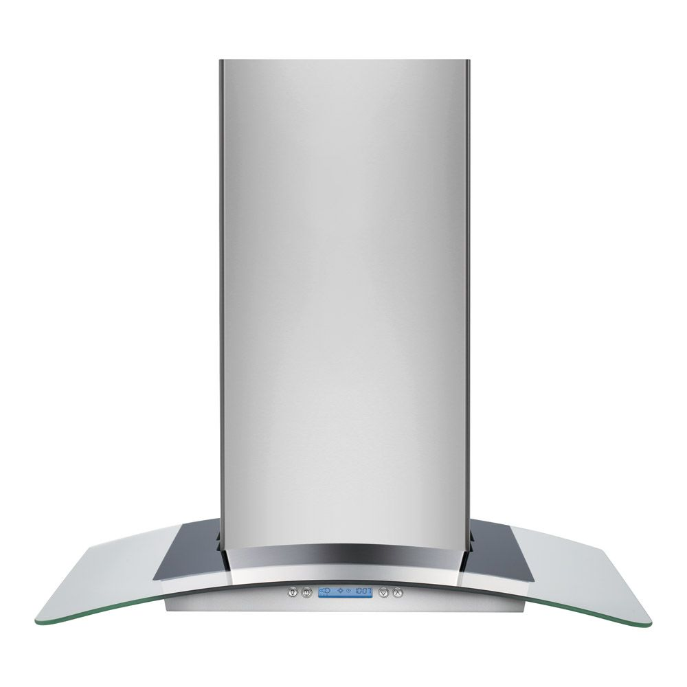 30-inch Convertible Glass Wall-Mount Range Hood in Stainless Steel