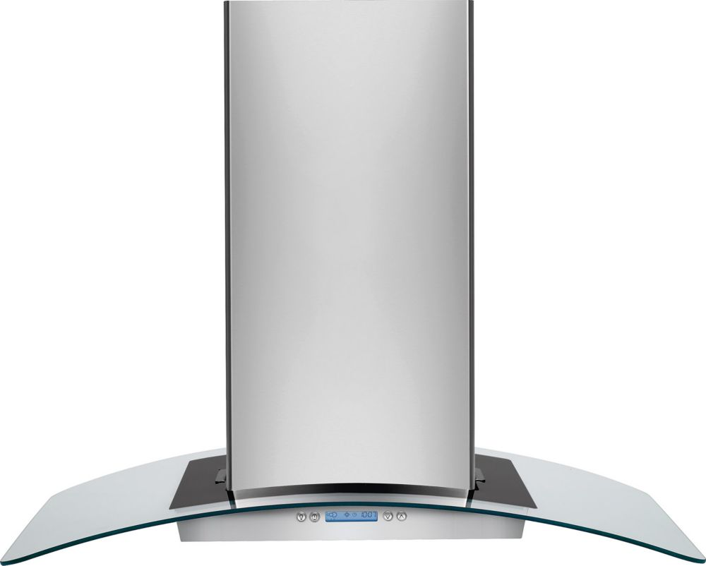 36-inch Glass Canopy Island Range Hood in Stainless Steel