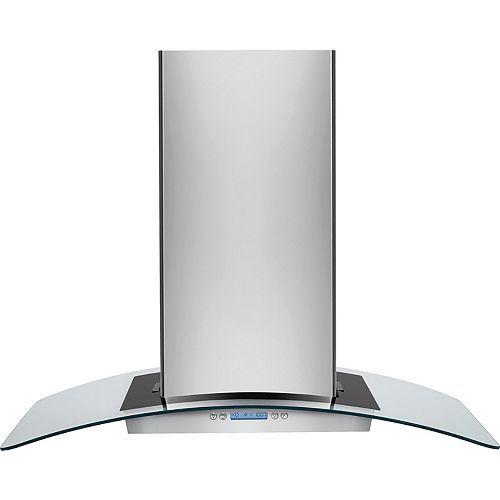 Electrolux 36-inch Glass Canopy Island Range Hood in Stainless Steel