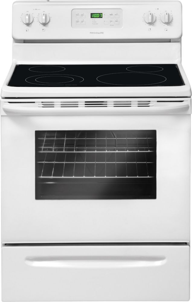 5.3 cu. ft. Electric Range with Self-Cleaning in White