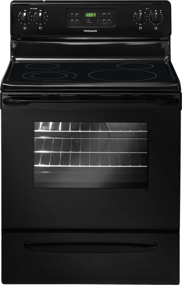 5.3 cu. ft. Electric Range with Self-Cleaning in Black