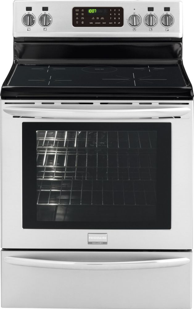 5.4 cu. ft. Free-Standing Induction Range with Self-Cleaning in Stainless Steel