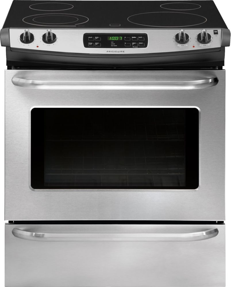 4.2 cu. ft. Slide-In Electric Range with Self-Cleaning in Stainless Steel