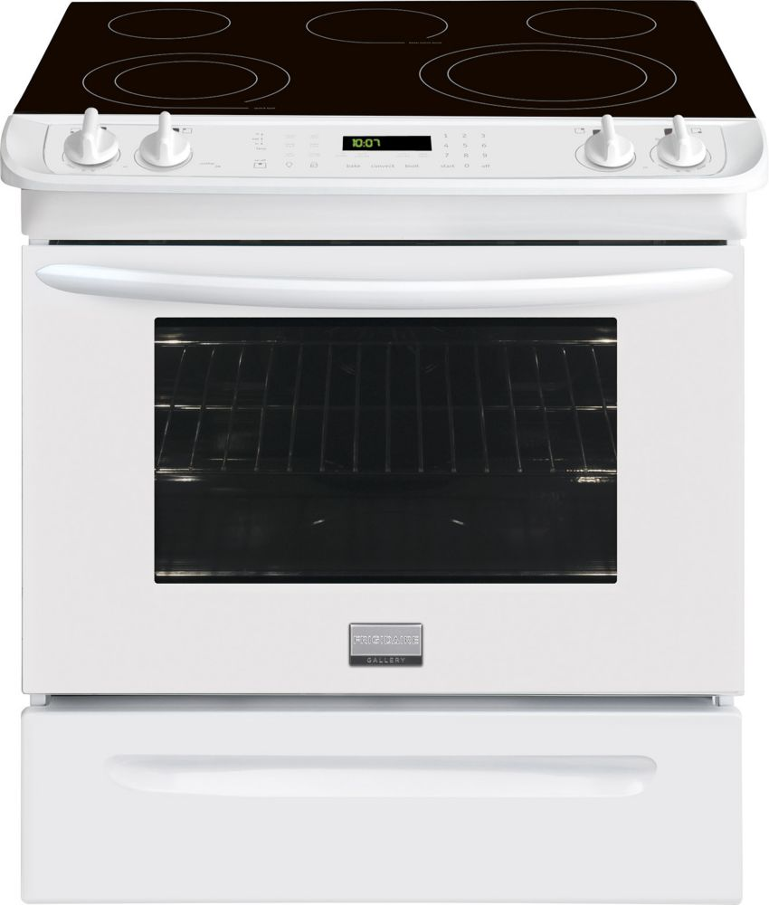 Gallery 4.6 cu. ft. Slide-In Electric Range with Self-Cleaning in White
