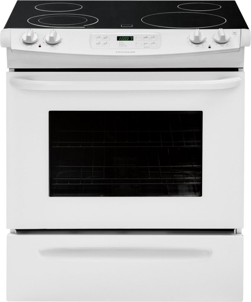 4.2 cu. ft. Slide-In Electric Range with Self-Cleaning in White