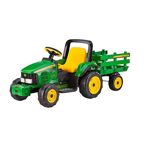 John Deere Farm Power tractor with trailer