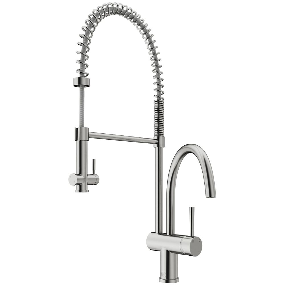 Vigo Dresden Stainless Steel Pull-Down Spray Kitchen Faucet