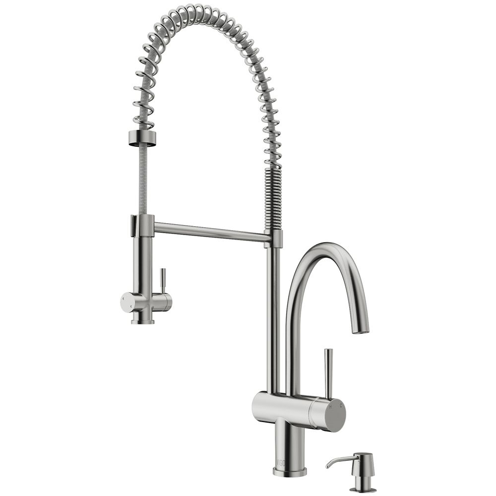 steel glacier handle pull home with bay down single reviews spray stainless kitchen prime market and interior faucet