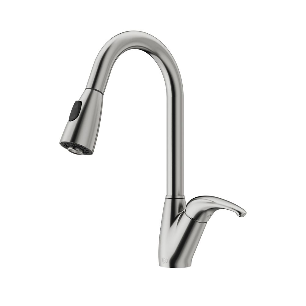 vigo stainless steel pull out spray kitchen faucet the