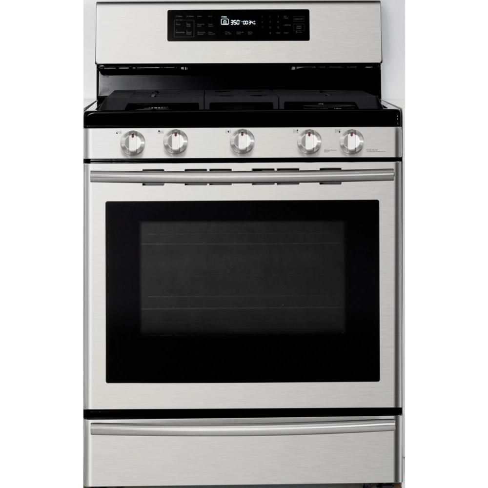 5.8 cu. ft. Free-Standing True Convection Gas Range in Stainless Steel