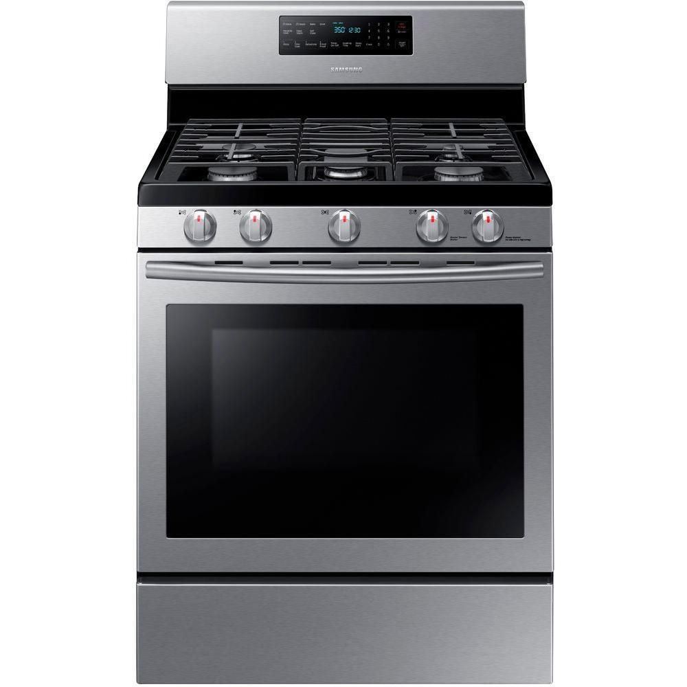 5.8 cu. ft. Free-Standing Convection Gas Range in Stainless Steel