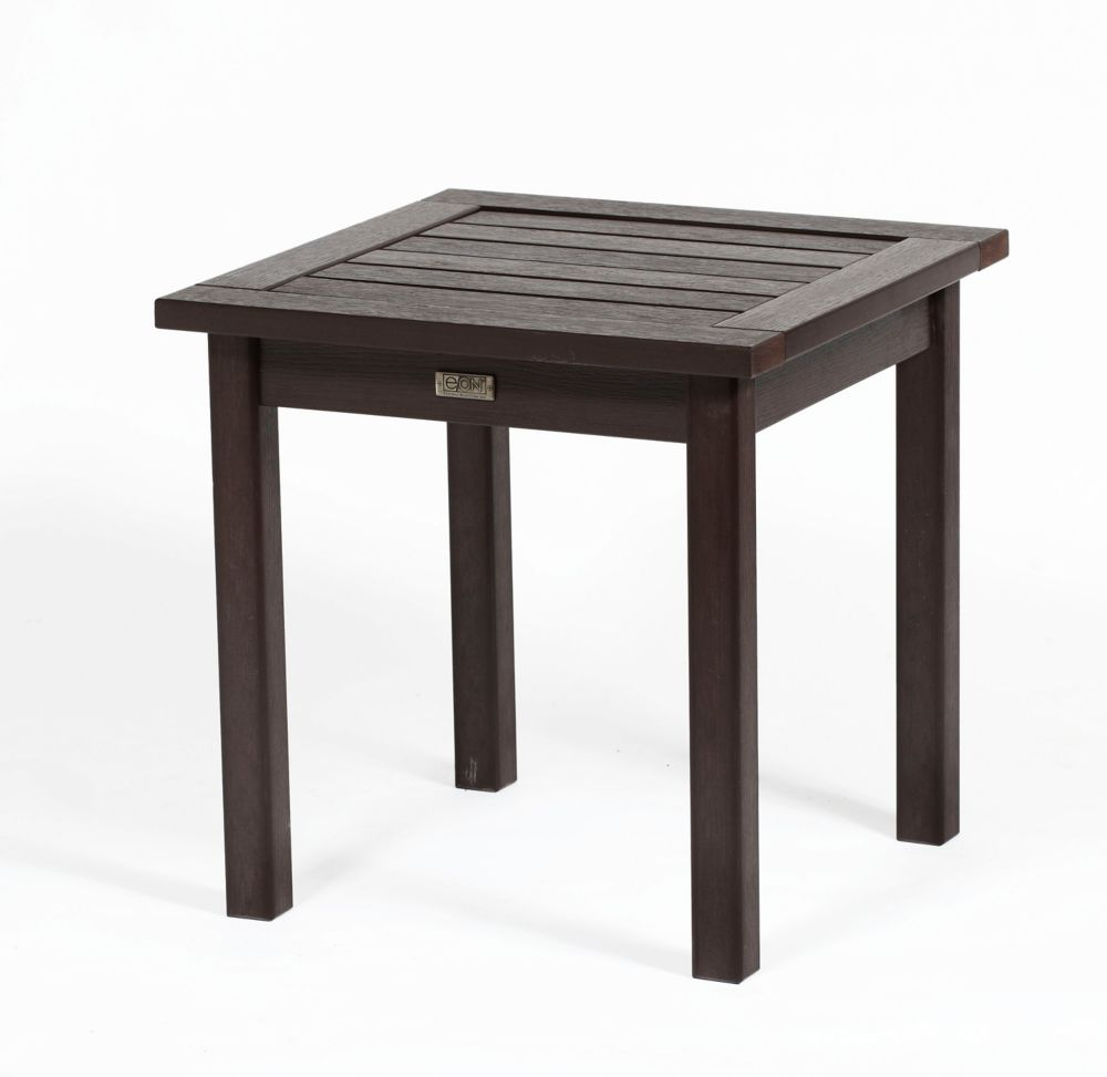 Eon White Deep Seating End Table-24 Inch