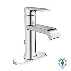 Genta Single Hole 1 Handle Low Arc Bathroom Faucet In Chrome With Lever