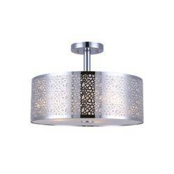 Canarm Ltd. PIERA 3 Light Chrome Semi-Flush Mount with Glass Diffuser
