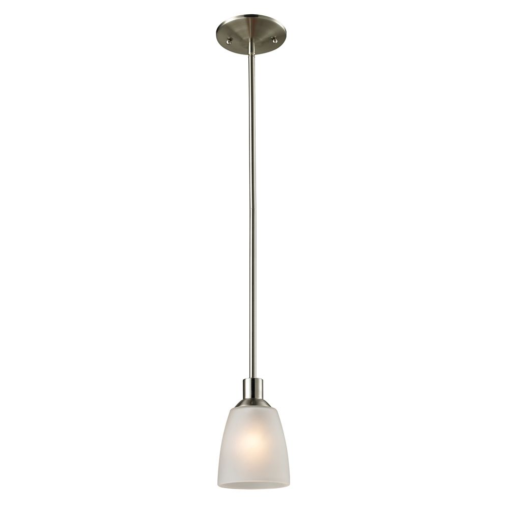 titan lighting luminaire suspendu miniature 1 ampoule ou del au fini nickel bross home. Black Bedroom Furniture Sets. Home Design Ideas