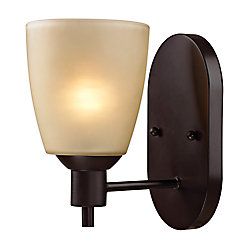 Titan Lighting 1 Light Wall Sconce In Oil Rubbed Bronze With Led Option