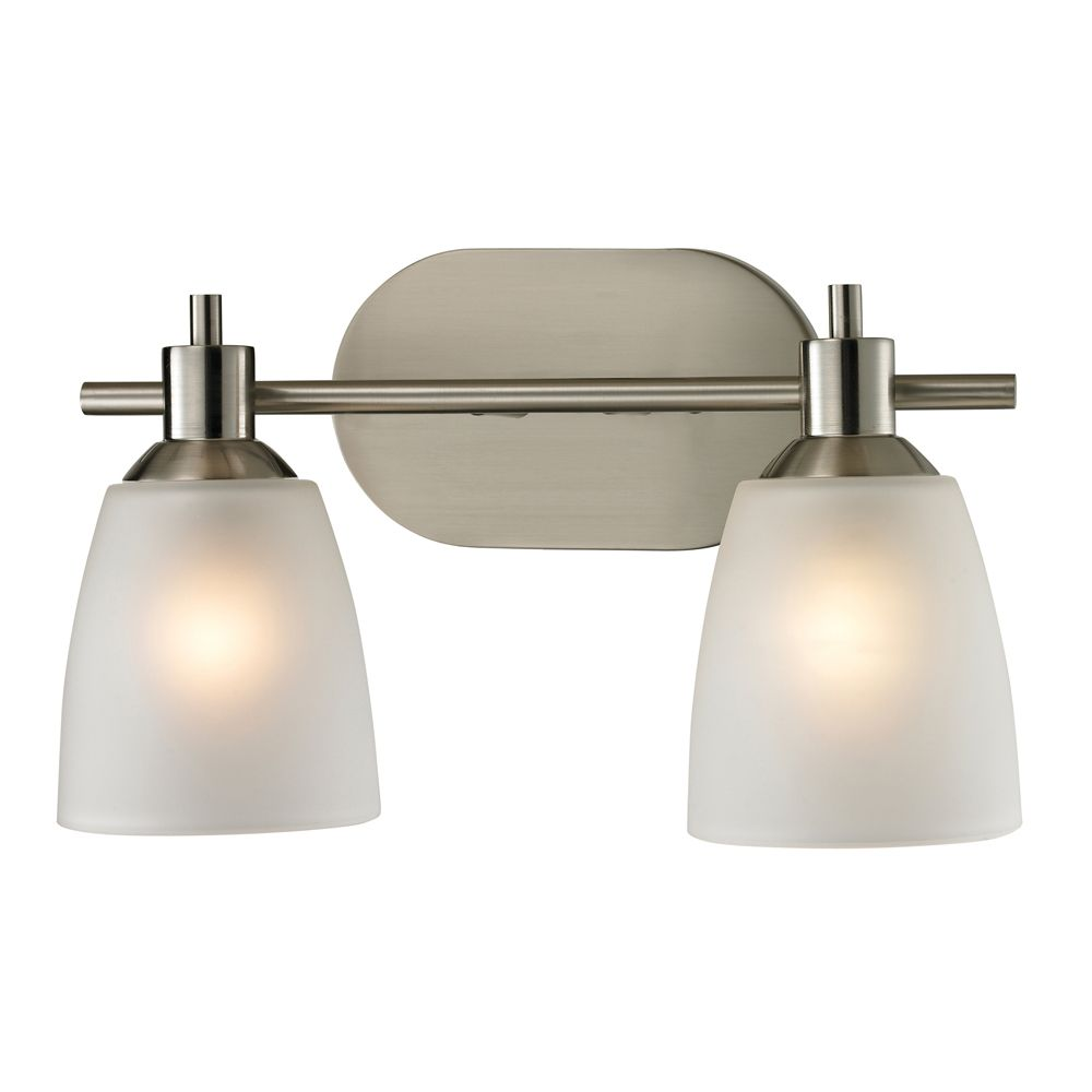 2 Light Bath Bar In Brushed Nickel With Led Option
