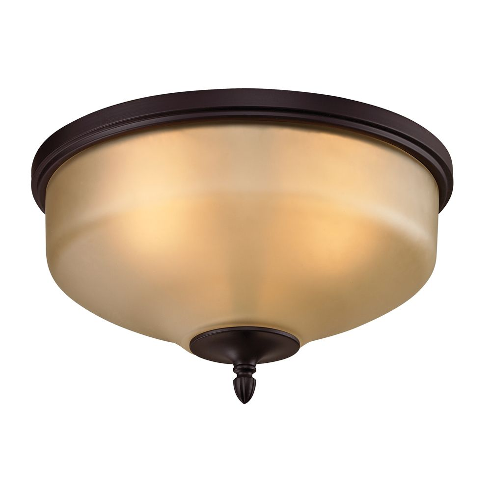3 Light Flush Mount In Oil Rubbed Bronze With Led Option