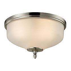 Titan Lighting Plafonnier à 3ampoules au fini nickel brossé