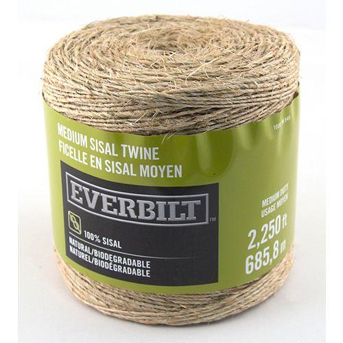 Everbilt MEDIUM x 2250 Feet  SISAL TWINE