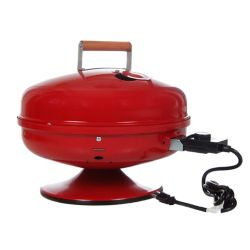 Americana Lock 'N Go Portable Electric BBQ in Red