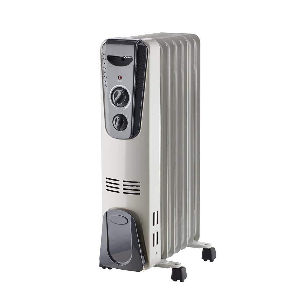 1500W Portable Oil Filled Radiator Heater with 4 Rolling Castors