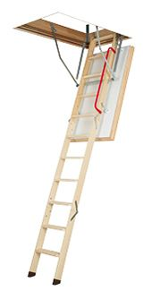 Attic Ladder (Wooden insulated ) LWT 25X54 300 lbs 10 ft 1 in