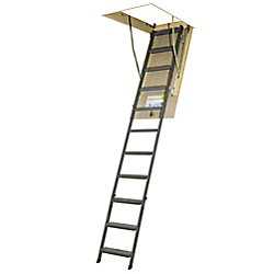 Fakro Attic Ladder (Metal Basic) OWM 25x54 300 lbs 10 ft 1 in