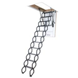 Fakro LST 9 ft. 6-inch, 25-inch x 47-inch Insulated Steel Scissor Attic Ladder with 300 lb. Capacity