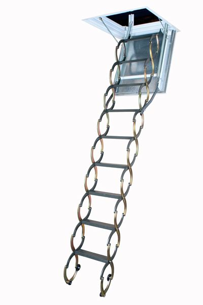 Attic Ladder (Scissor Fireproof Door Insulated) LSF 22 1/2 x 47 300lbs 9ft 10in