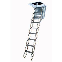 Fakro Échelle de grenier (à ciseaux, coupe-feu avec trappe isolée) LSF 22 1/2 x 47 – 300 lb – 9 pi 10 po