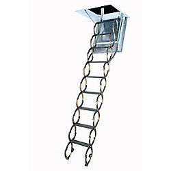Fakro Attic Ladder (Scissor Fireproof Door insulated) LSF 25x47 300 lbs 9 ft 10 in