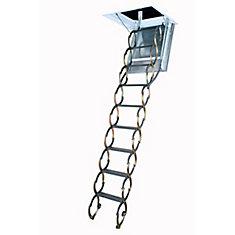 Attic Ladder Scissor Fireproof Door Insulated LSF 25x47 300 Lbs 9 Ft 10 In