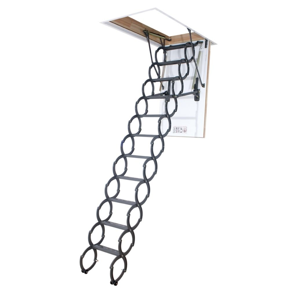 Fakro Attic Ladder (Scissor Insulated) LST 22 1/2 x 47 300 lbs 9 Feet 6 Inch