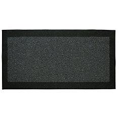 Element Black 2 ft. x 4 ft.  Indoor Rectangular Accent Mat