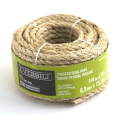 Everbilt 1/4-inch x 50 Feet SISAL TWISTED NATURAL