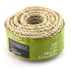 Everbilt 3/8-inch x 50 Feet SISAL TWISTED NATURAL