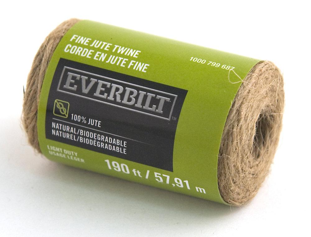 Everbilt FINE x 190 Feet JUTE TWINE NATURAL