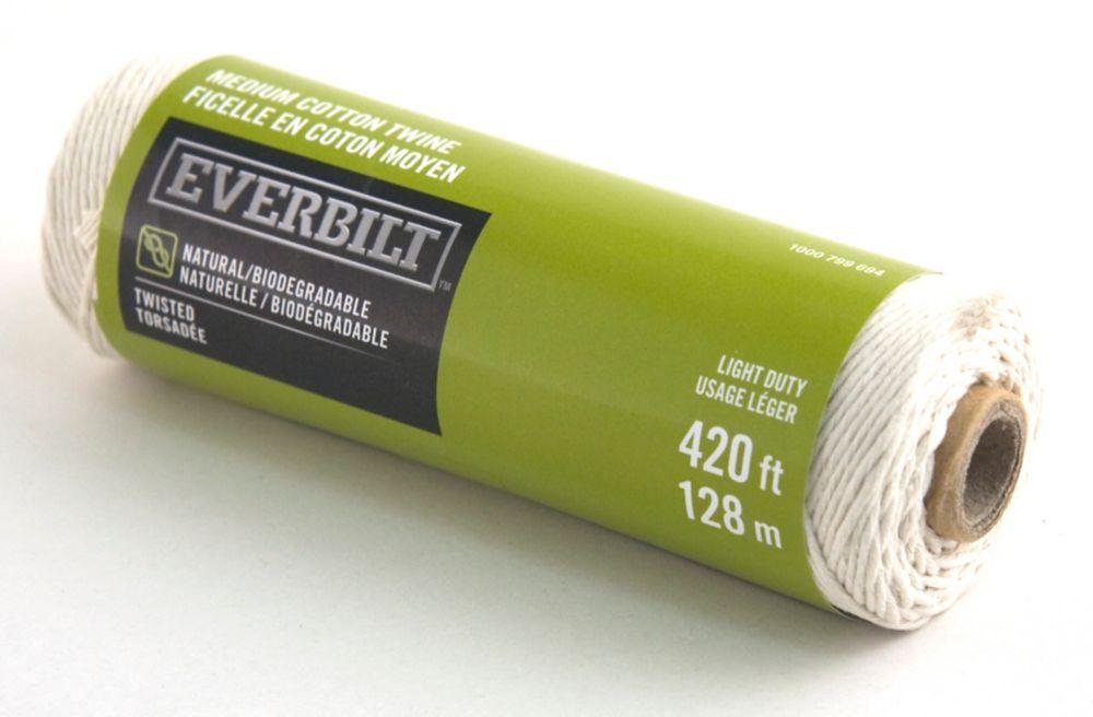 Everbilt MEDIUM x 420 Feet  COTTON TWINE