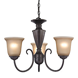 Titan Lighting 3 Light Chandelier In Oil Rubbed Bronze With Led Option