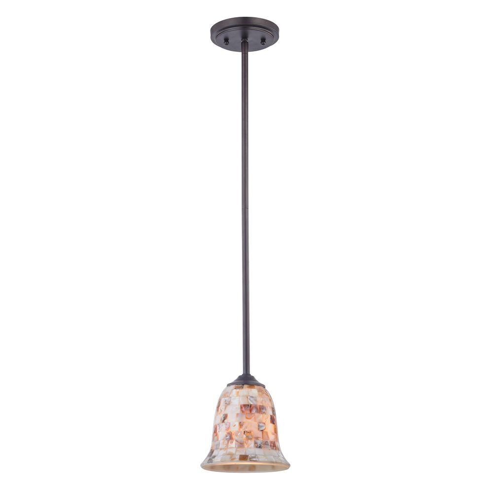 titan lighting luminaire suspendu miniature 1 ampoule au fini bronze huil home depot canada. Black Bedroom Furniture Sets. Home Design Ideas