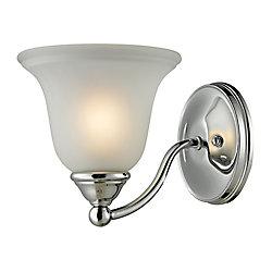 Titan Lighting Applique de salle de bain à 1ampoule ou DEL au fini chromé