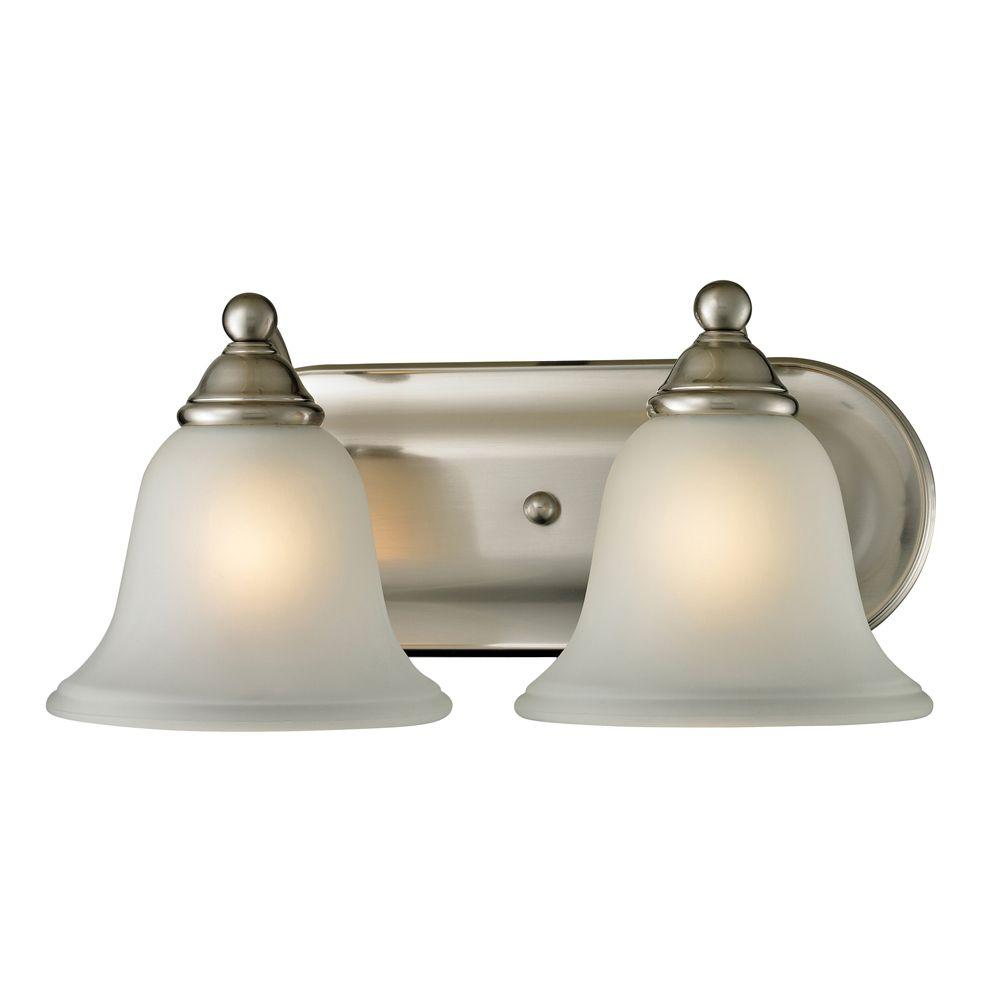 2 Light Bath Bar In Brushed Nickel