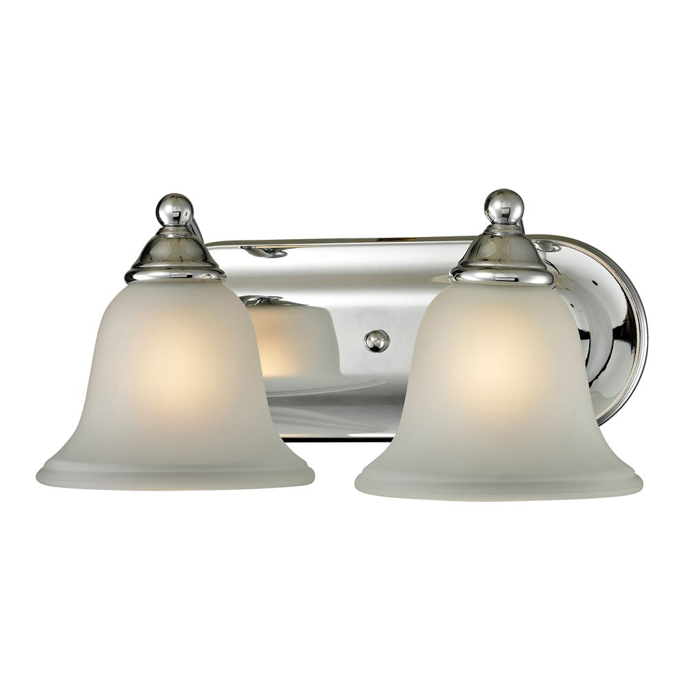 Titan Lighting 2 Light Bath Bar In Chrome With Led Option