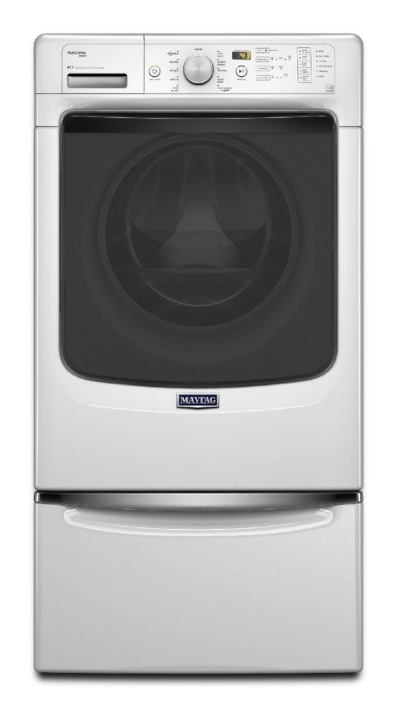Maxima 4.8 cu. ft. High Efficiency Steam Washing Machine with Fresh Hold Option in White