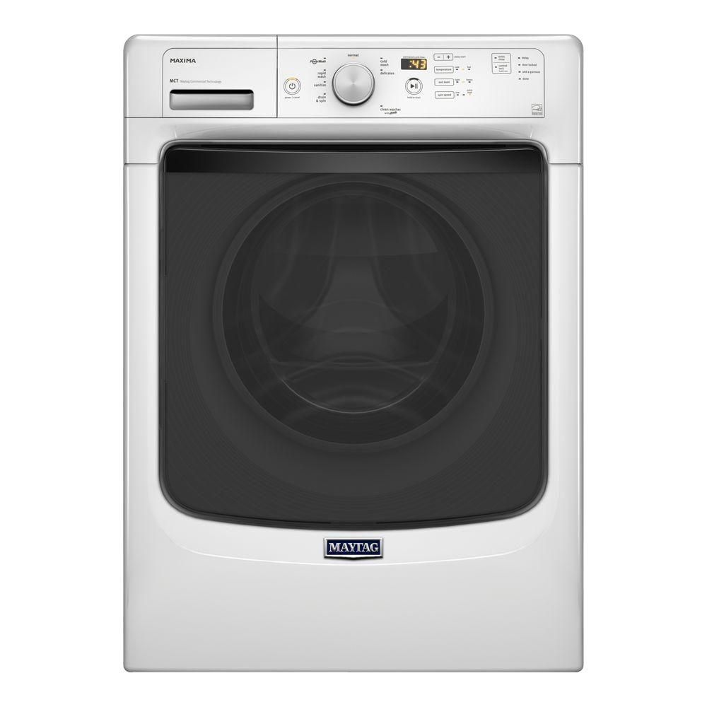 Maxima 5.2 cu. ft. Front Load Washing Machine with Large Capacity in White